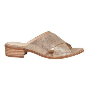 Isola Ginata leather glitter criss cross sandals 8